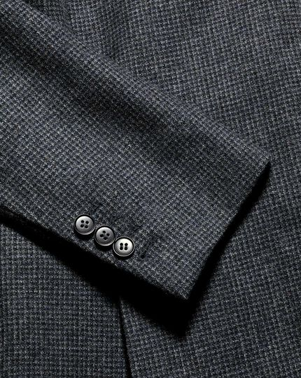Puppytooth Textured Wool Jacket - Blue