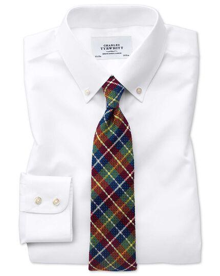 Slim fit white button-down non-iron twill shirt
