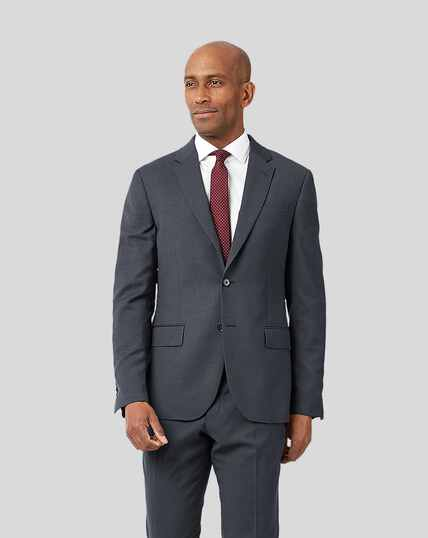 Business Suit Textured Jacket - Steel Grey