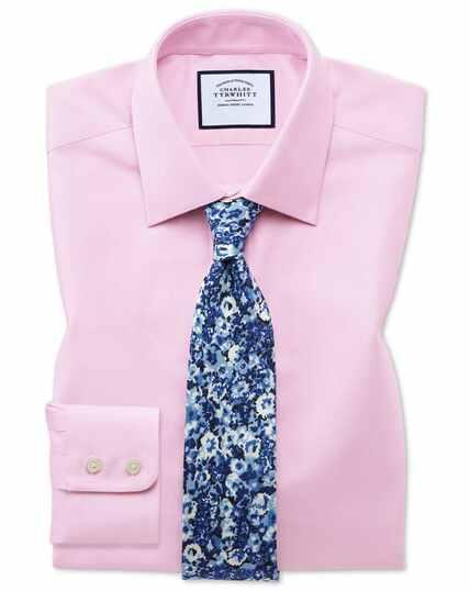 Roze koninklijk Oxford-overhemd van Egyptische katoen met klassieke pasvorm