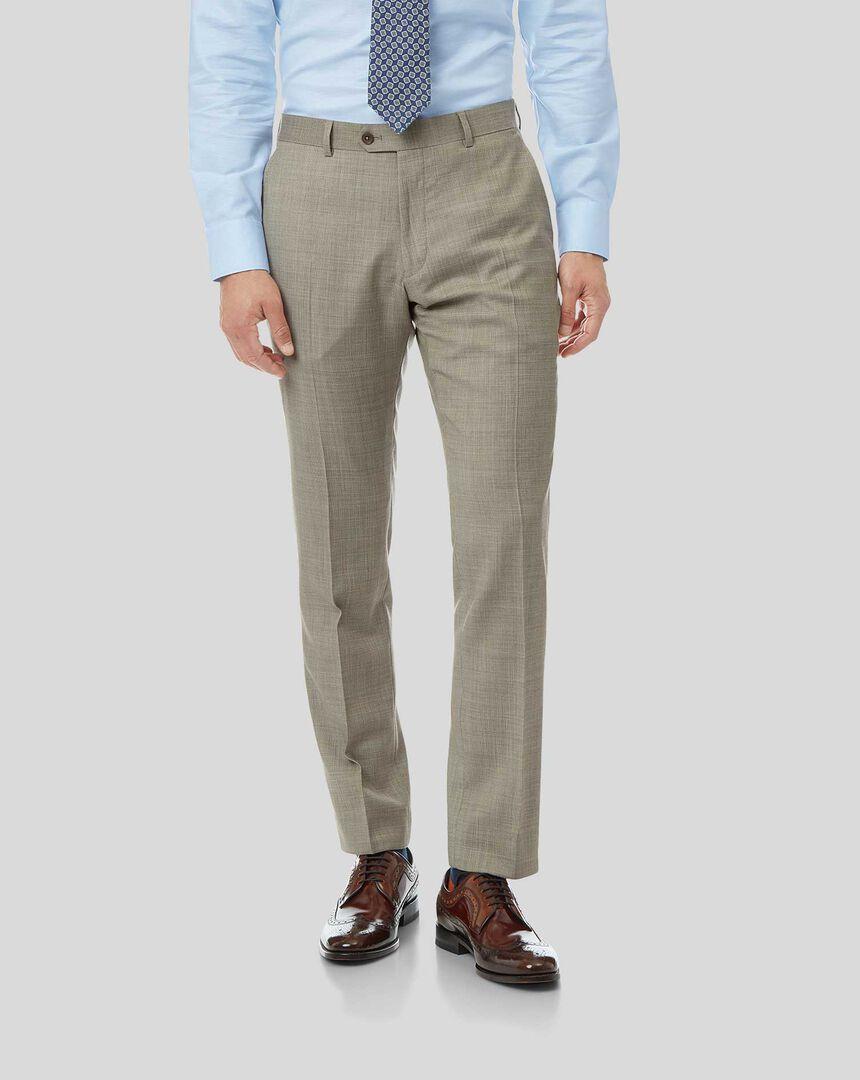 Textured Suit Pants - Stone