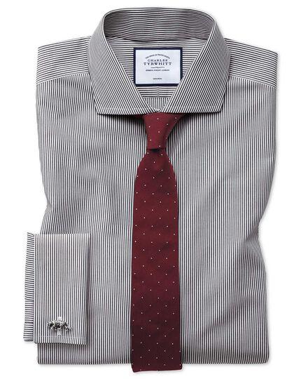 Super slim fit non-iron black Bengal stripe shirt