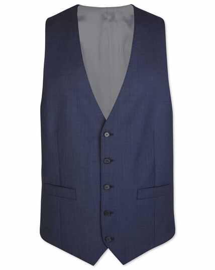 Airforce blue adjustable fit sharkskin travel suit vest