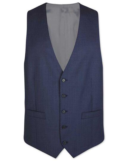Airforce blue adjustable fit sharkskin travel suit waistcoat