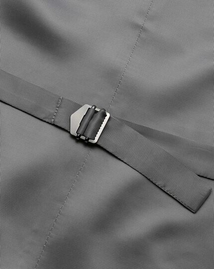 Light grey adjustable fit twill business suit vests