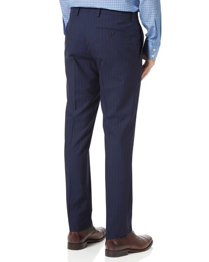 Navy slim fit Panama stripe business suit pants