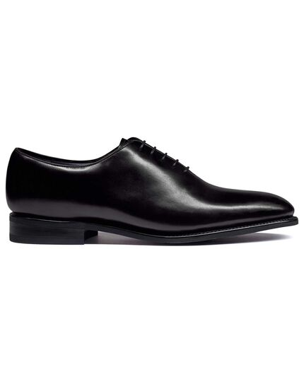 Black Goodyear welted wholecut performance shoes