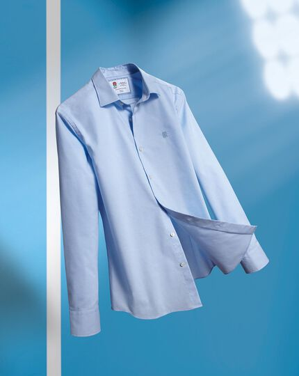 England Rugby Non-Iron Stretch Poplin Shirt - Sky