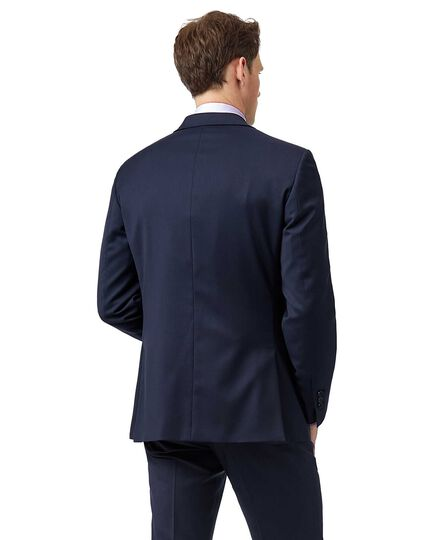Mid blue slim fit Italian natural stretch suit jacket