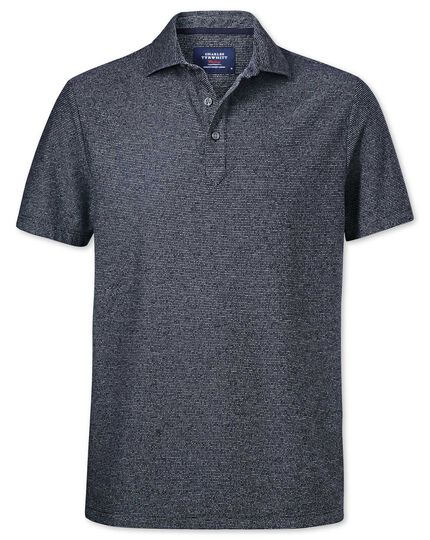 Navy and white stripe polo