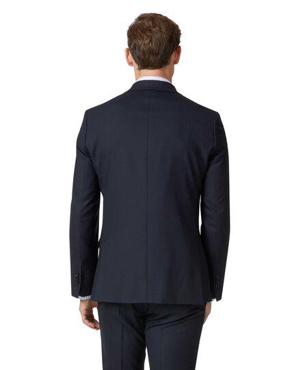 Zweireihiges Businessanzug-Sakko Extra Slim Fit Merinowolle in Mitternachtsblau