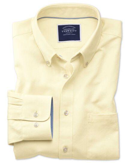 Classic Fit Oxfordhemd mit Button-down Kragen in Hellgelb