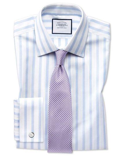 Klassische Krawatte Seide Schmutzabweisend mit Hahnentrittmuster in Lila