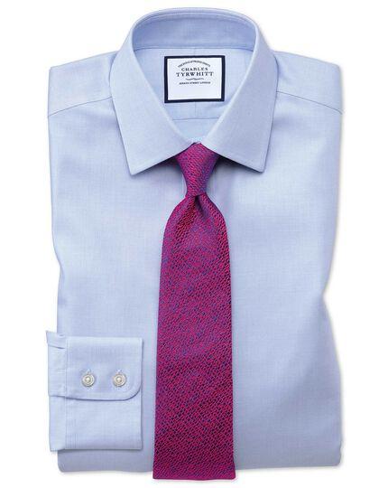 Slim fit non-iron step weave sky blue shirt