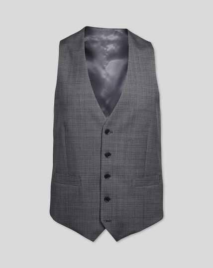 Crosshatch Suit Waistcoat - Grey