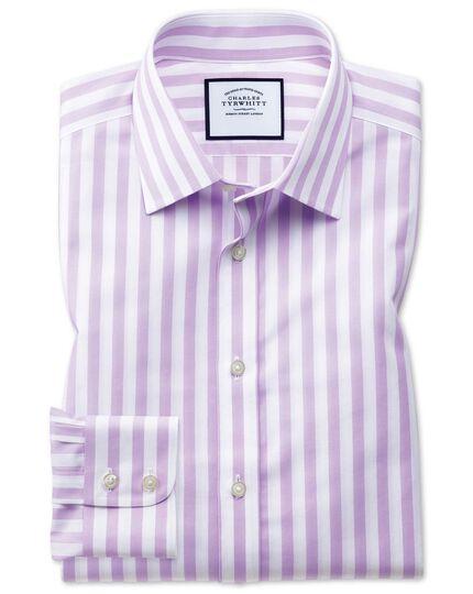 Chemise violette extra slim fit à rayures bengale sans repassage