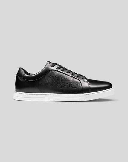 Leather Trainer - Black