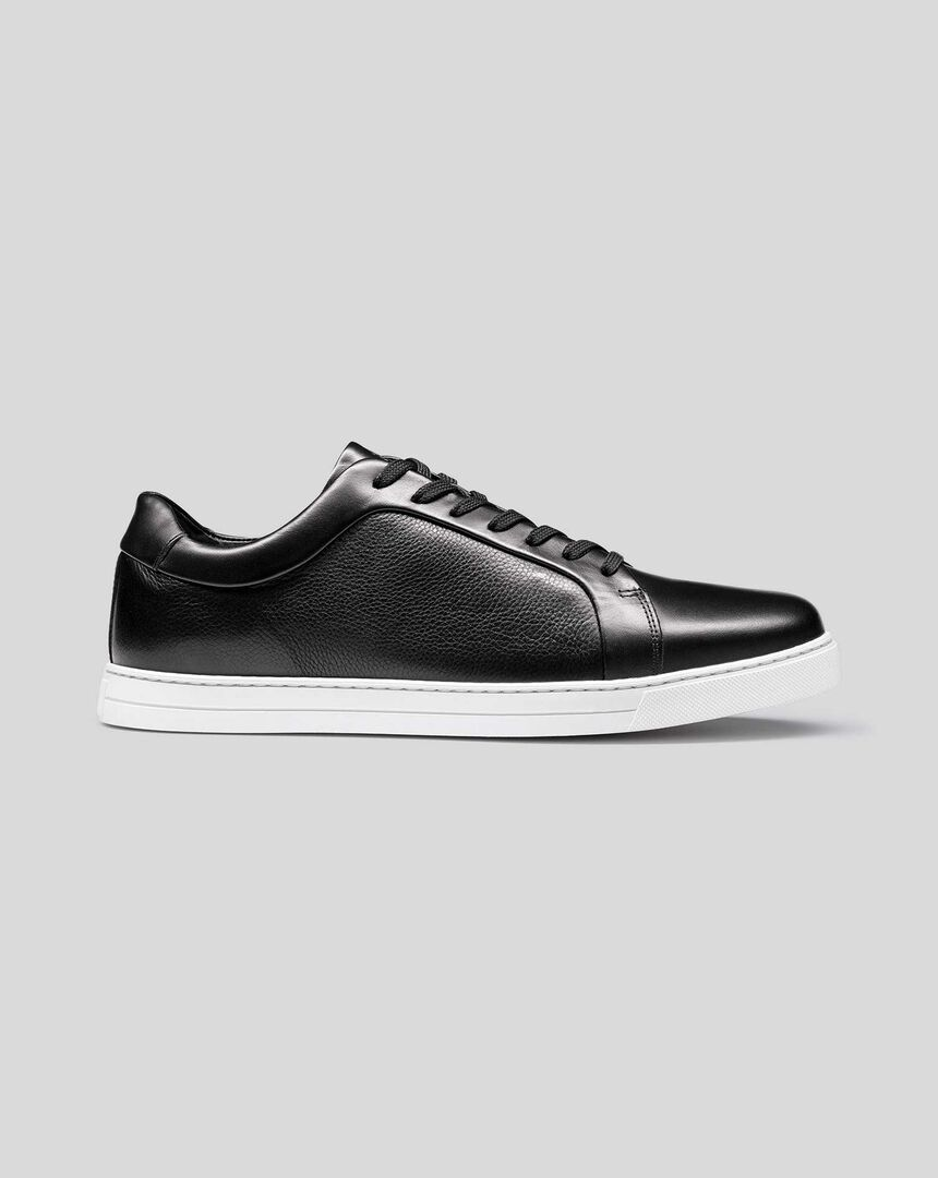 Leather Trainers - Black