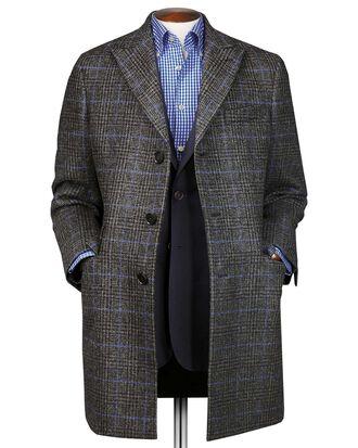 Manteau Epsom gris en laine à carreaux