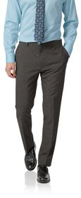 Grey slim fit merino business suit