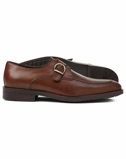 Brown perfromance monk shoes
