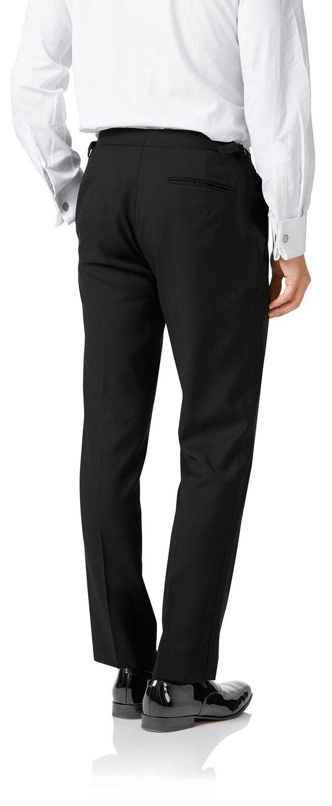 Black slim fit peak lapel tuxedo