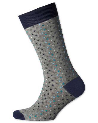 Grey multi dot socks