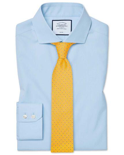 Chemise bleu ciel en coton Tyrwhitt Cool slim fit à col cutaway sans repassage