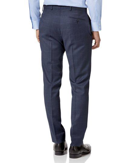 Airforce blue slim fit Italian suit pants