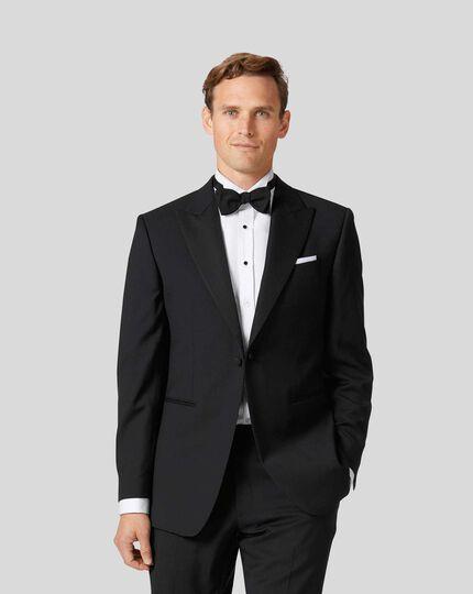 Peak Lapel Tuxedo Jacket - Black