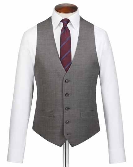 Grey adjustable fit jaspe business suit vest
