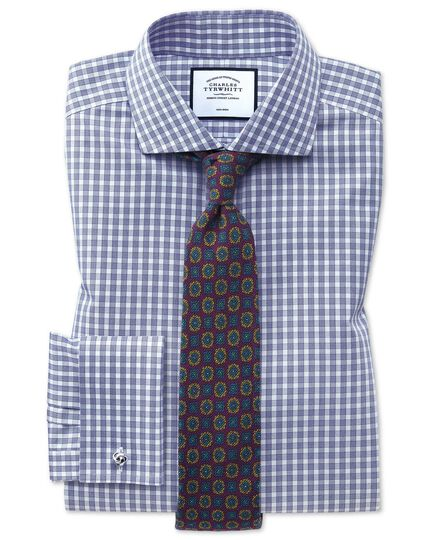 Purple wool geometric print Italian luxury tie