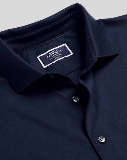 Long Sleeve Jersey Shirt - Navy