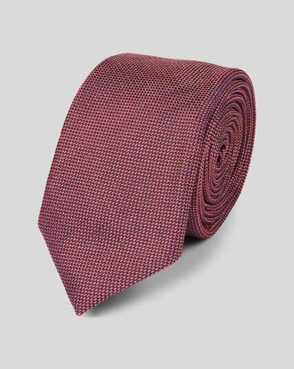 Silk Slim Tie - Coral