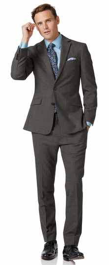 Slim Fit Business Merino-Anzug in Grau