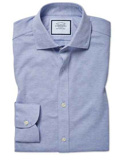 Extra slim fit travel blue shirt