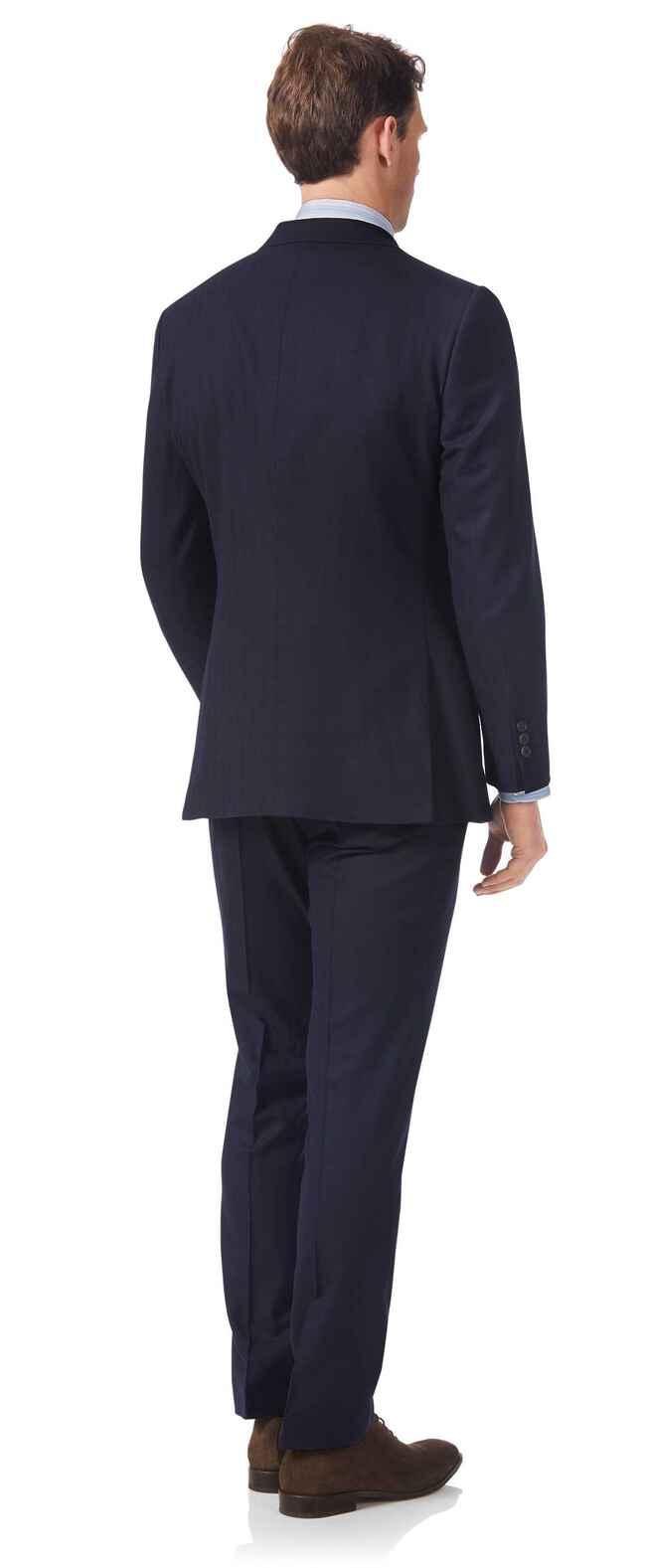 Navy slim fit British luxury suit