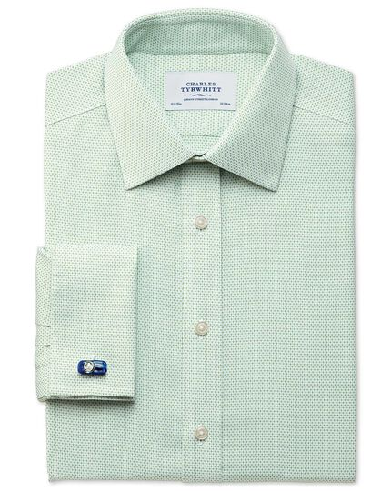 Extra slim fit non-iron imperial weave light green shirt