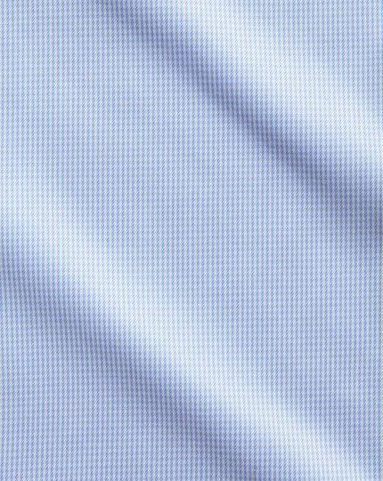 Bügelfreies Slim Fit Hemd mit Hahnentritt in Himmelblau