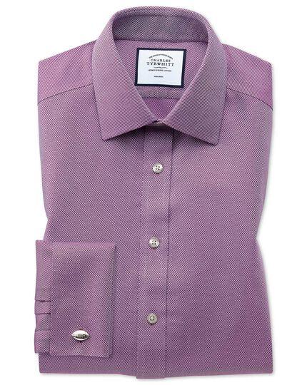 Slim fit non-iron berry arrow weave shirt