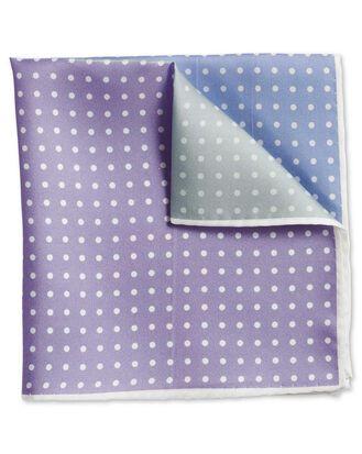 Pastel printed spot quarter pocket square