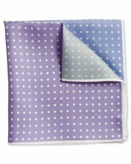 Pastel printed spot quarter pocket square