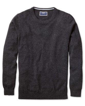 Charcoal crew neck cashmere jumper