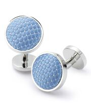 Sky diamond silk cufflinks