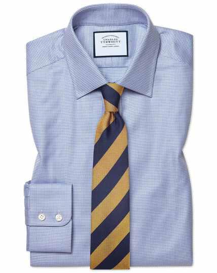 Classic fit Egyptian cotton chevron sky blue shirt