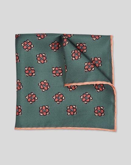 Einstecktuch mit floralem geometrischen Print - Grün