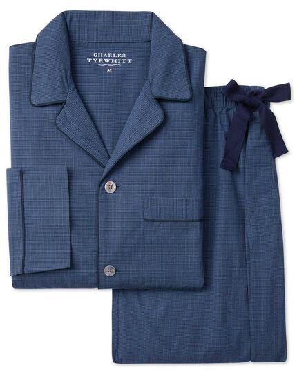 Navy check pyjama set