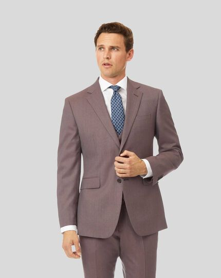 Twill Business Suit Jacket - Fig