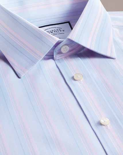 Non-Iron Stripe Shirt -Pink And Blue