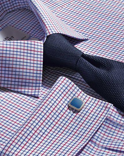 Navy silk plain classic tie